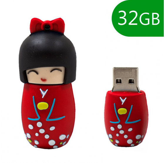 Pendrive Cool 32 GB Muñeca Roja usb 2.0